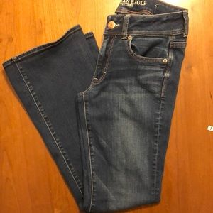 American Eagle Jean Kick Boot Sz 6 Short
